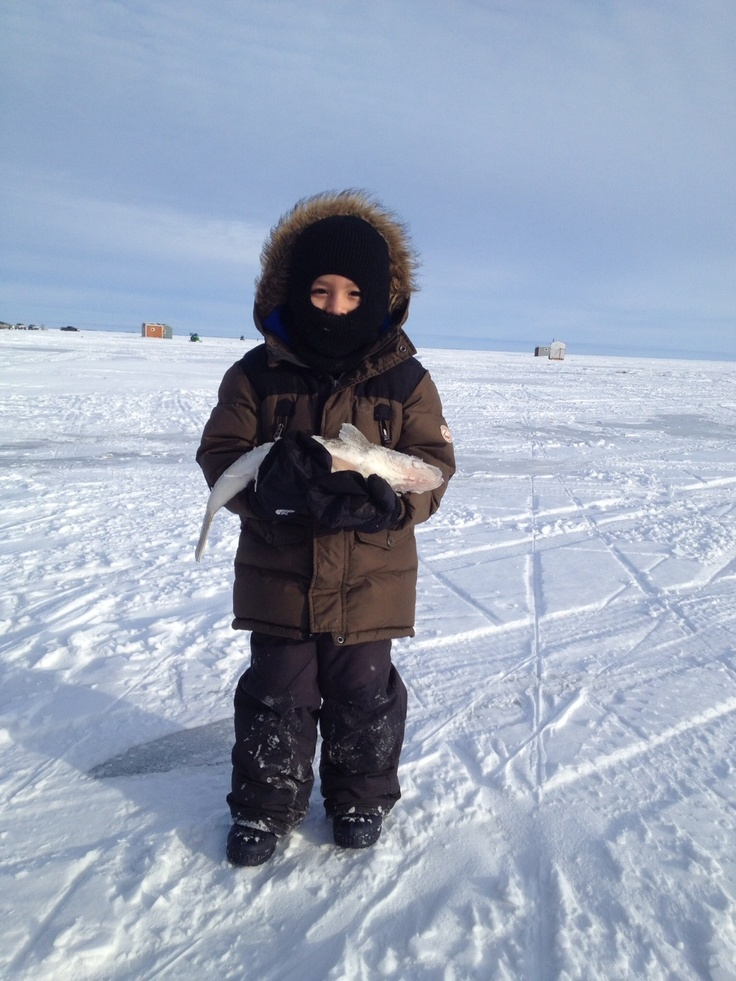 Ice fishing on lake Dauphin #GILOVEMANITOBA