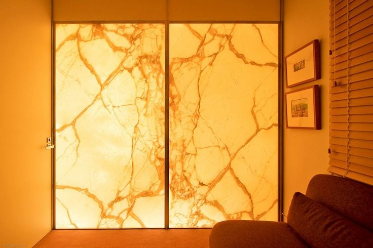 Calacatta on Glass Supplied and Installed by Euro Marble