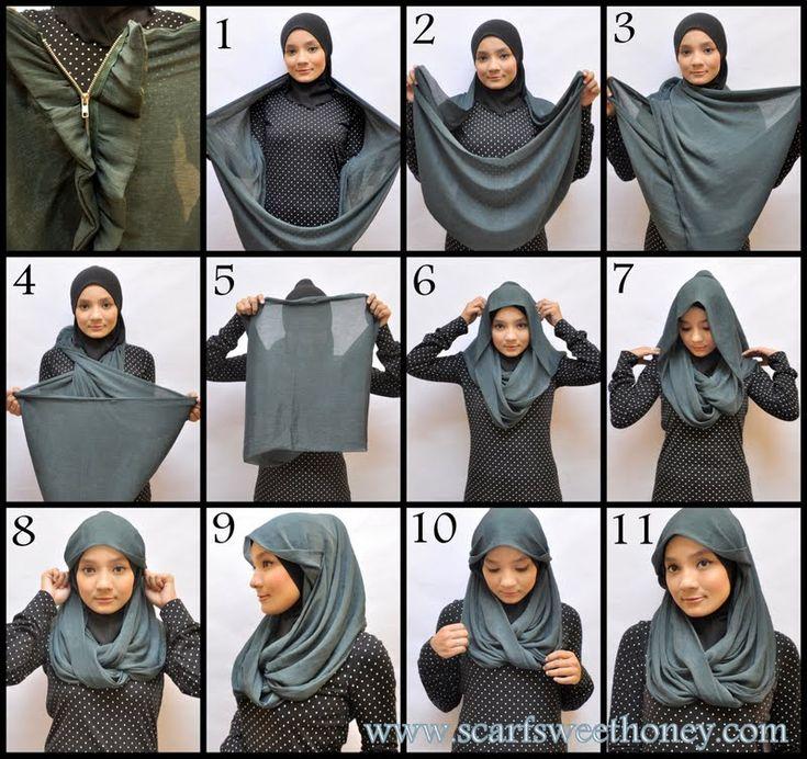 Hijab Tutorial ~ Scarf Sweethoney - Zippy ZAYRA Style 2