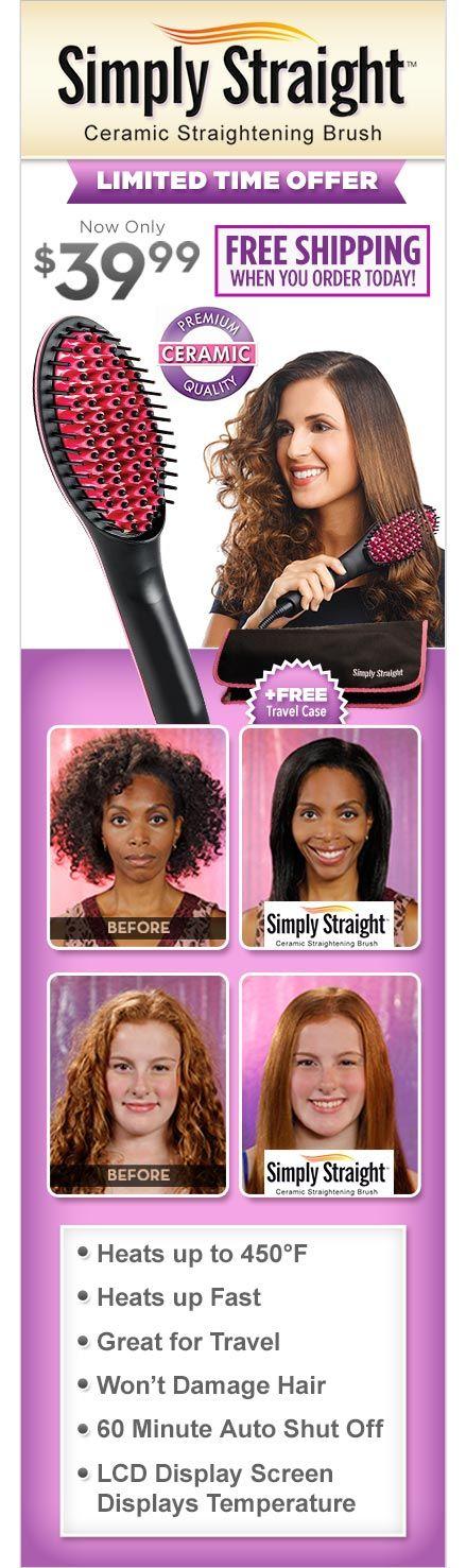 Simply Straight™ | The Amazing New Ceramic Straightening Brush!