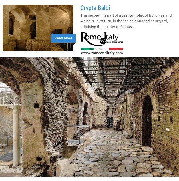 Crypta Balbi The museum is part of a vast complex of buildings and which is, in its turn, in the the...