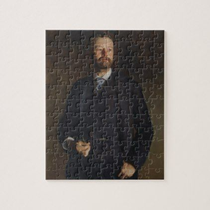 Portrait of Henry Cabot Lodge by JS Sargent Jigsaw Puzzle - portrait gifts cyo diy personalize custom