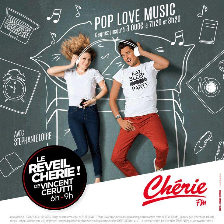 Nouvelle Campagne du Réveil Chérie ! de Vincent Cerutti 6H-9H sur Chérie Fm ! #réveil #vincentcerutti #cheriefm #radio #fm #stephanieloire #tableau #craie #pub