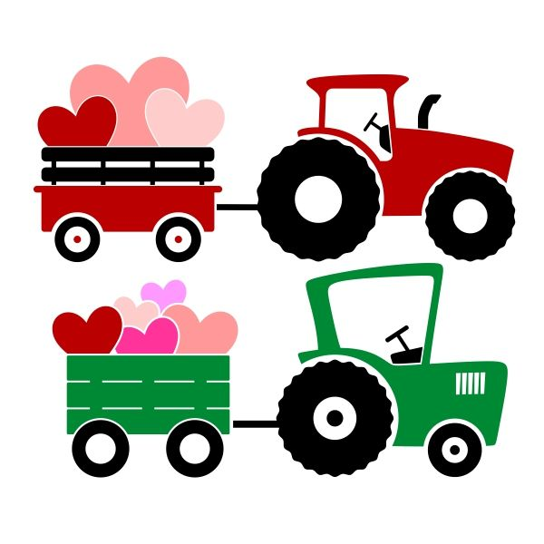 Wagon Tractor SVG Cuttable Design