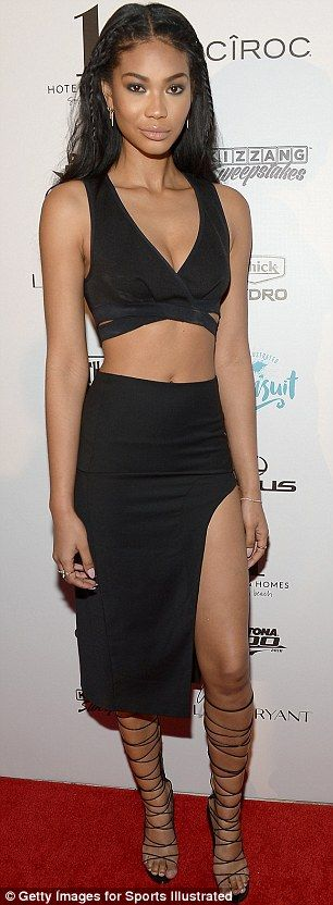 Hannah Davis stuns in black lace playsuit at Sports Illustrated Swimsuit Issue BBQ | Daily Mail Online