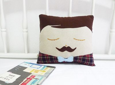 Sweet Little  Mustache Pillow