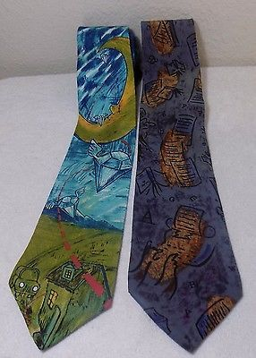 the BEATLES NECK TIE LOT of 2 Lucy in the sky with diamonds & Paperback writer
