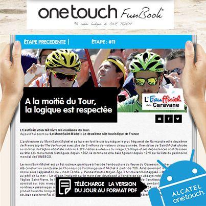 Tenez-vous informés de l'actualité du Tour de France #TDF13 avec l'EAUFFICIEL, le journal officiel du Tour ! https://www.facebook.com/letourenonetouch/app_151320008388247.