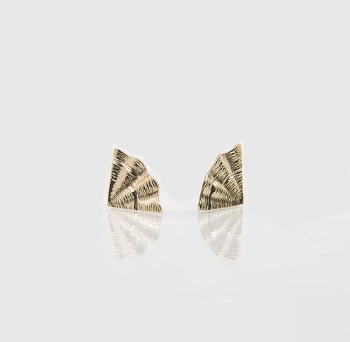 Irish Designer Gold Earrings - Shore Collection