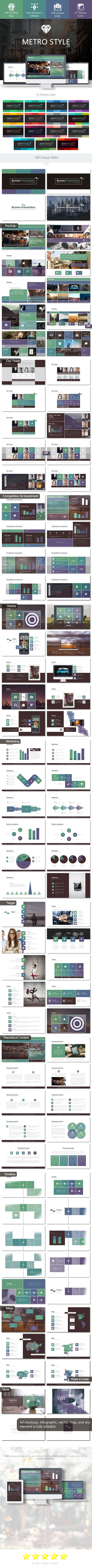 Metro Style 2.0 - PowerPoint Template #design #slides Buy Now: http://graphicriver.net/item/metro-style-20-powerpoint-template/12901321?ref=ksioks