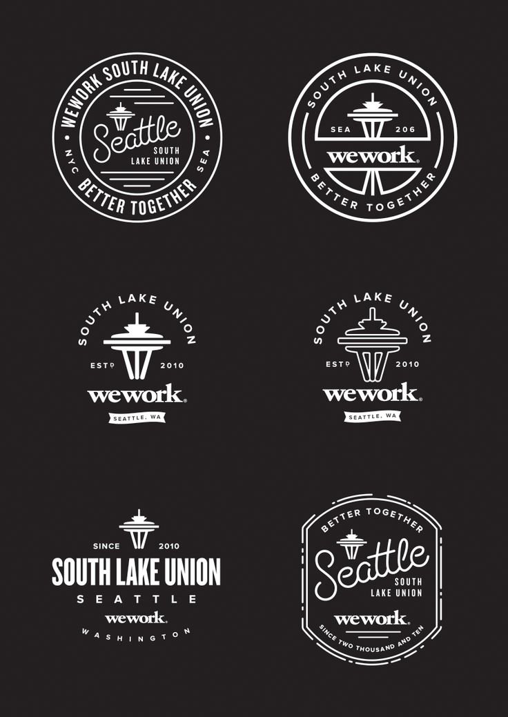 We Work Better Together, South Lake Union, Seattle   //  #LogoDesign #GraphicDesign #Inspiration