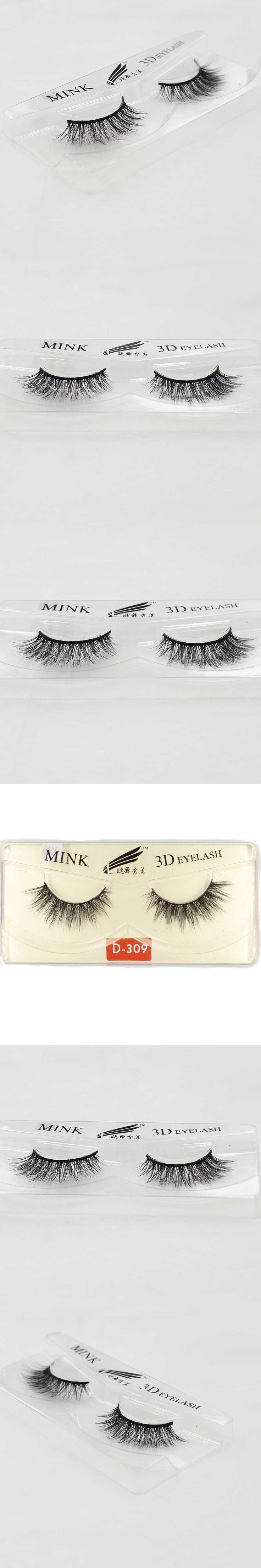 5 Pairs Tapered 3D Mink Eyelashes Extension False Eye Lashes +Box Cilios Posticos Naturais Faux Cils Wimpern Nep Wimpers D309-S5