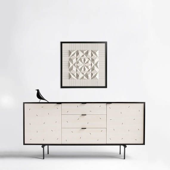 I figured I´d make some staged images to get an idea what context do my works need. This black and white piece titled Draw-4EC8F loves monochromatic furniture, wallpapers, and tiles.