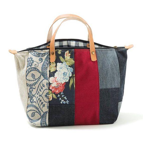 Oltre 25 fantastiche idee su borse in tessuto su pinterest for Borse fai da te jeans