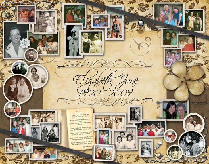 Creating photo boards is a great opportunity for the whole family to participate and remembering fond memories of your loved one.