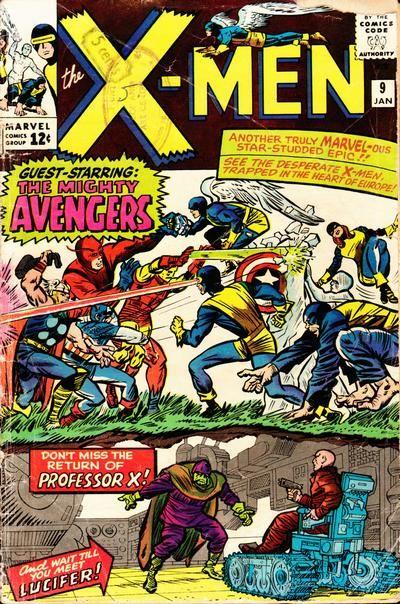 "X-Men vol. 1 #9, ""Enter, the Avengers"" (January, 1965). Jack Kirby."