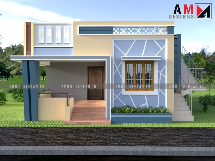 26 X 36 Small Budget House Front Elevation In 2020 North Facing House Kerala House Design Duplex House Design