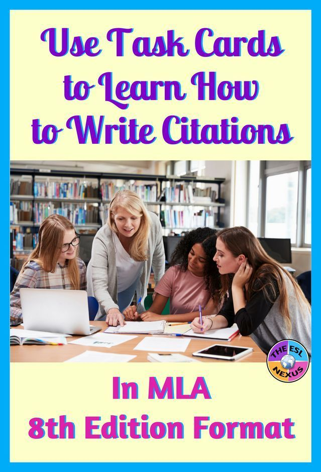 mla citation practice with task cards secondary social studies