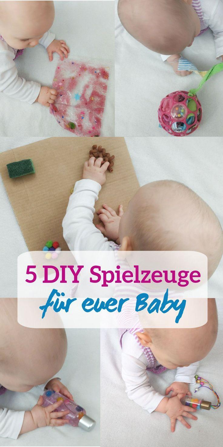 Funf Kreative Selbstgemachte Spielzeuge Mit Denen Sich Euer Baby Beschaftigen Kann Ideen Fur Aktivitaten Zum Fordern Von Sensorik Und Feinmotorik Tolle Besch Selbstgemachtes Spielzeug Spielzeug Fur Baby Baby Fordern