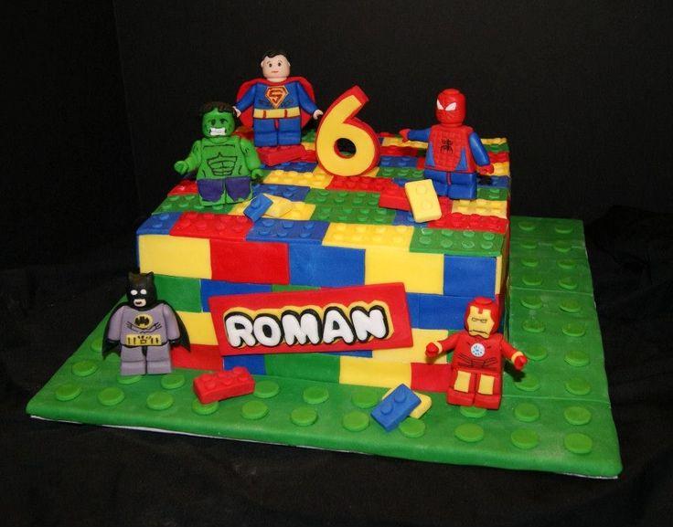 Lego Superhero cake www.betniebakes.com