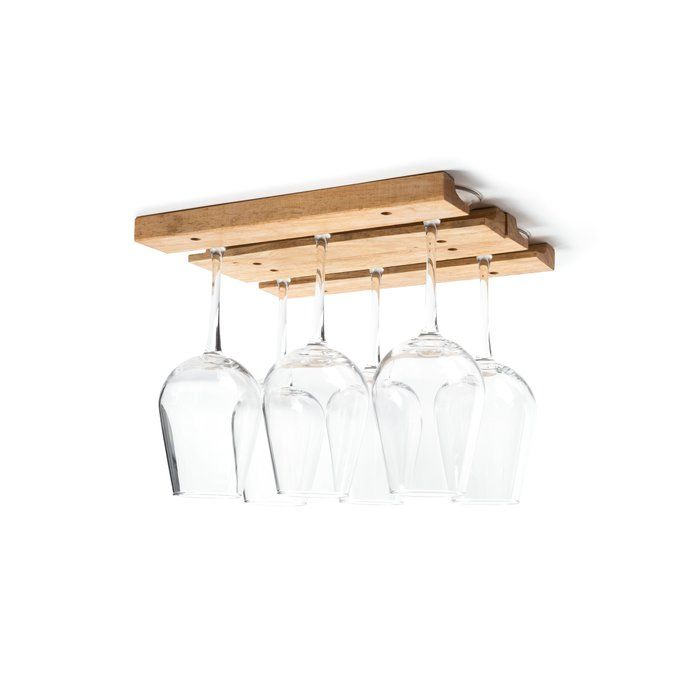 how to build a hanging wine glass rack