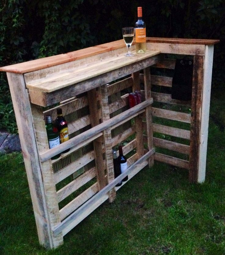 Reclaimed Pallet, Oak Floor Broad And Douglas Fir Plank And Decking Off Cut  Outdoor Bar