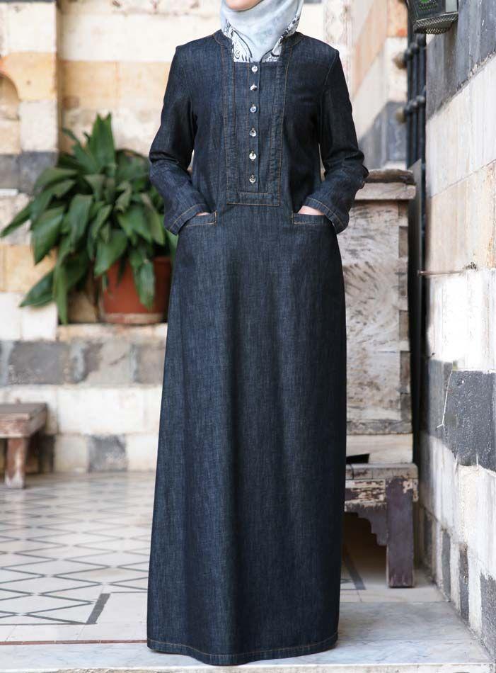 SHUKR USA   Denim Adila Dress