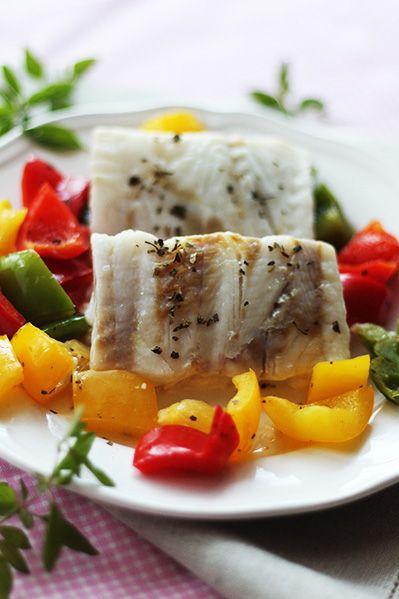 Szybkie danie z parowaru - ryba duszona z warzywami / Receipe for Compact Intellisteam fish with vegetables