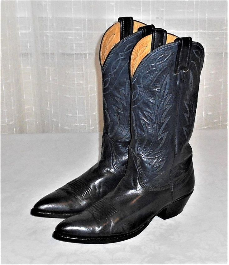 Nocona 7550 Blue Leather Western Cowboy Boot Women's US 6.5 READ #Nocona #WesternCowboy