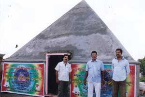 Shakthi Sai Pyramid Meditation Center http://www.pyramidseverywhere.org/pyramids-directory/telangana/medak-district  #Pyramid #Pyramids