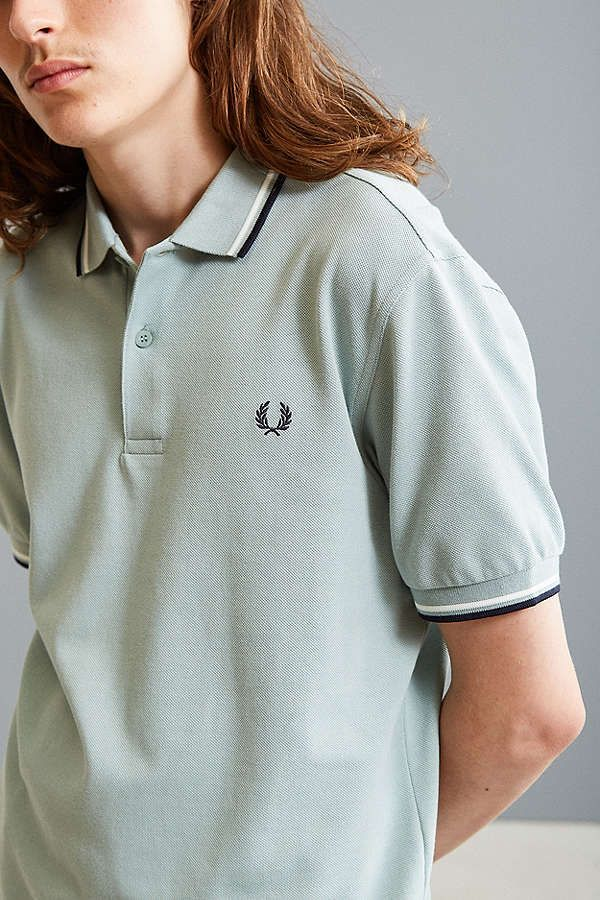 Slide View: 1: Fred Perry Classic Twin Stripe Polo Shirt