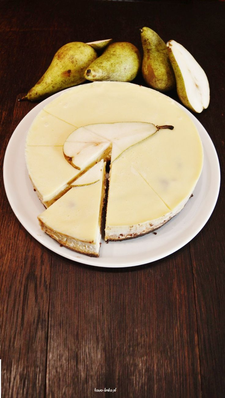 cheesecake with pear. SERNIK GRUSZKOWY.