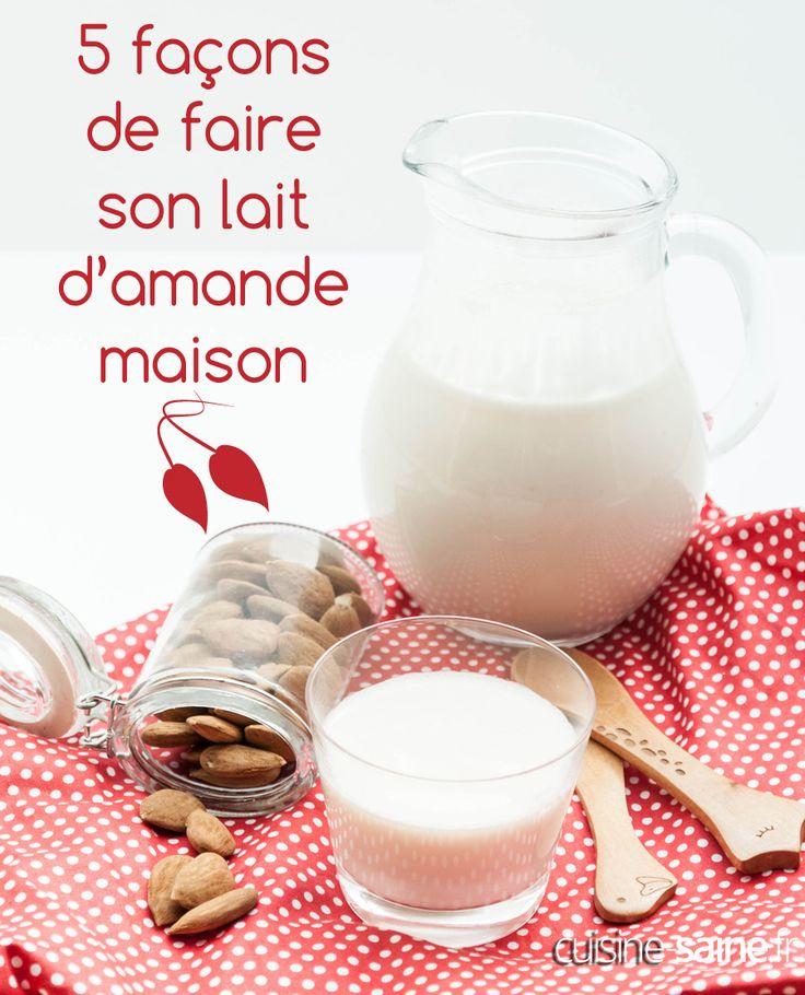 Le lait d'amande je l'aime beaucoup, je m'en sers très souvent dans mes recettes « sans lait ». Son gout très doux passe partout. J'aime aussi le lait de riz pour les mêmes raisons. Comme je n'ai pas toujours de brique de lait d'amande à la maison je vais vous montrer comment faire son propre lait d'amande maison.