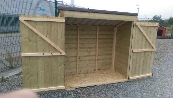 6 x 3 x 6 Storage Shed  Made from pressure treated shiplap board. Standard Steel Non Drip Roof,  Raised flooring Smart Ply, Double Opening Door, From €400 @ www.stsheds.com