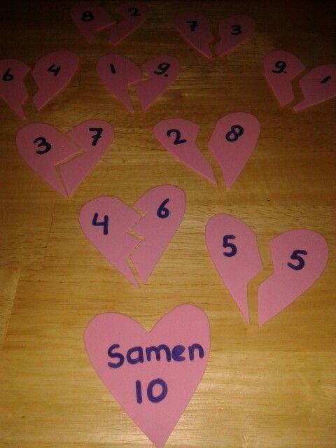 Verliefde harten: splitsingen tot 10