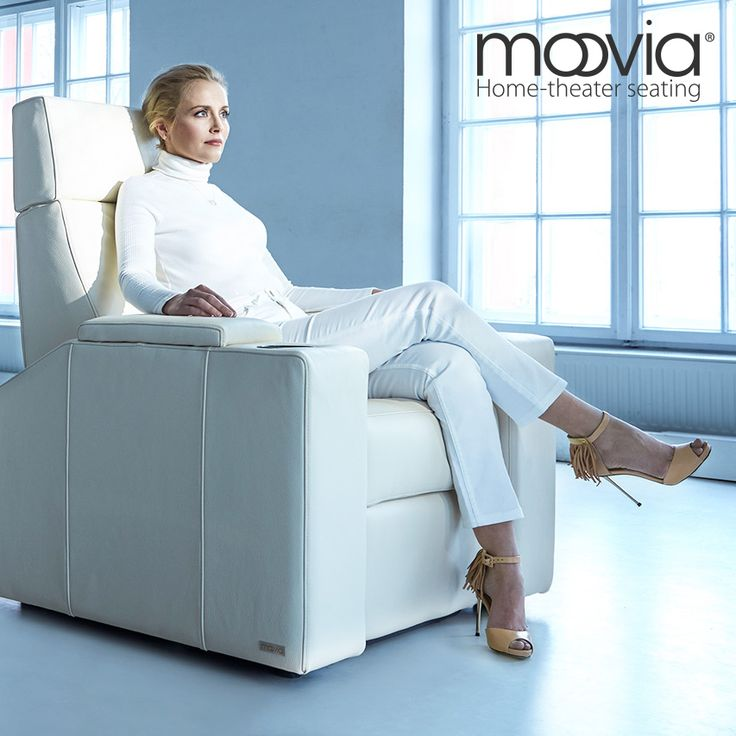 BERLIN  MOOVIA ®  HOME-THEATER SEATING Form and functionality are combined in a clear structure and result in a timeless and elegant home theater chair. http://moovia.de/berlin/