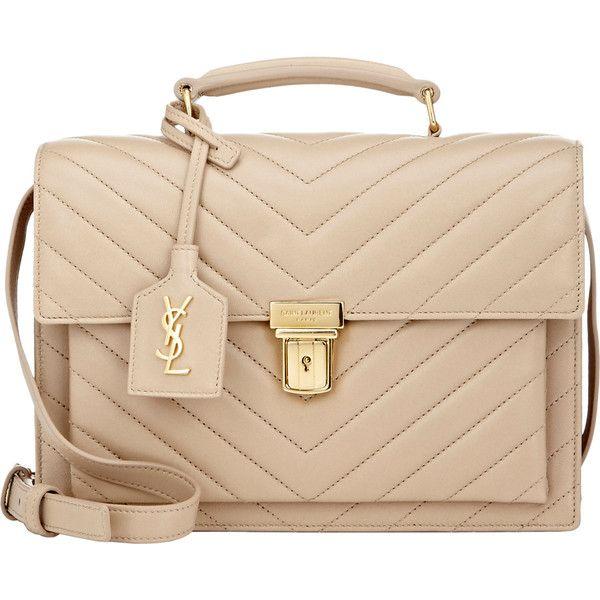 Saint Laurent High School Medium Saddle Bag (£1,505) ❤ liked on Polyvore