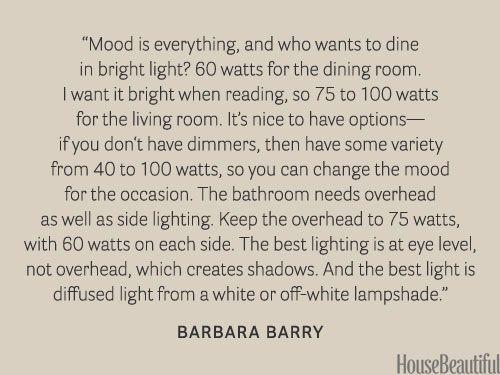 Mood lighting. #designer_quotes #decorating #lighting