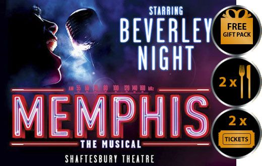 MEMPHIS MUSICAL THEATRE VOUCHER SHOW AND DINNER THEATRE VOUCHER GIFT PACKAGE - FOR TWO Memphis the musical is coming straight from the smash hit