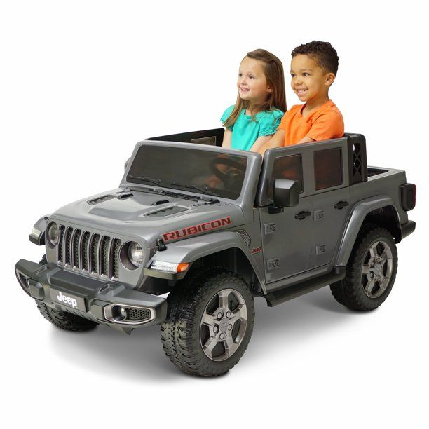 12 Volt Jeep Gladiator Battery Powered Ride On Vehicle Gray Walmart Com In 2020 Jeep Gladiator Kids Jeep Jeep