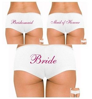 BELLA BOYCUT CUSTOM UNDERWEAR FOR BRIDAL PARTY