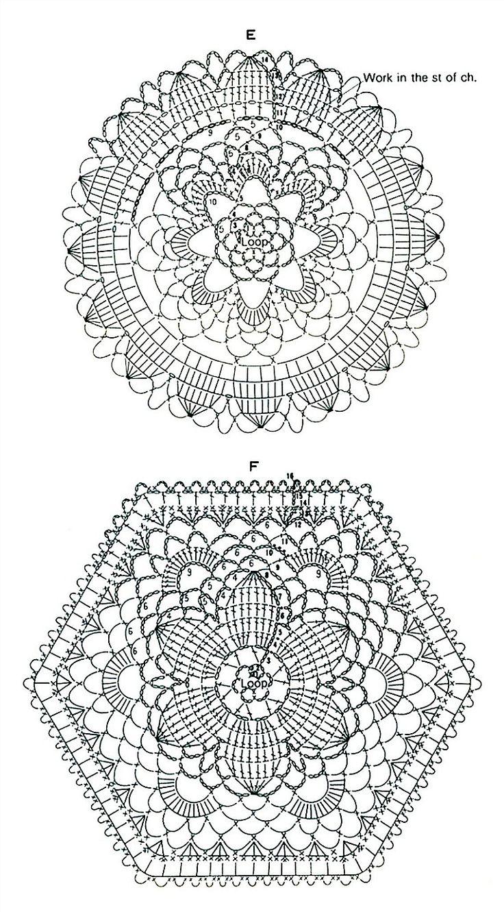 1304 best Crochet mandalas images on Pinterest | Crochet doilies ...