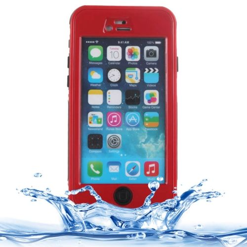 [USD5.44] [EUR4.90] [GBP3.81] ABS Material Waterproof Protective Case with Button & Touch Screen Function for iPhone 6 & 6S(Red)