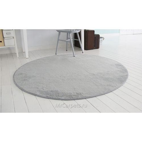 Круглый серый ковер Charmant