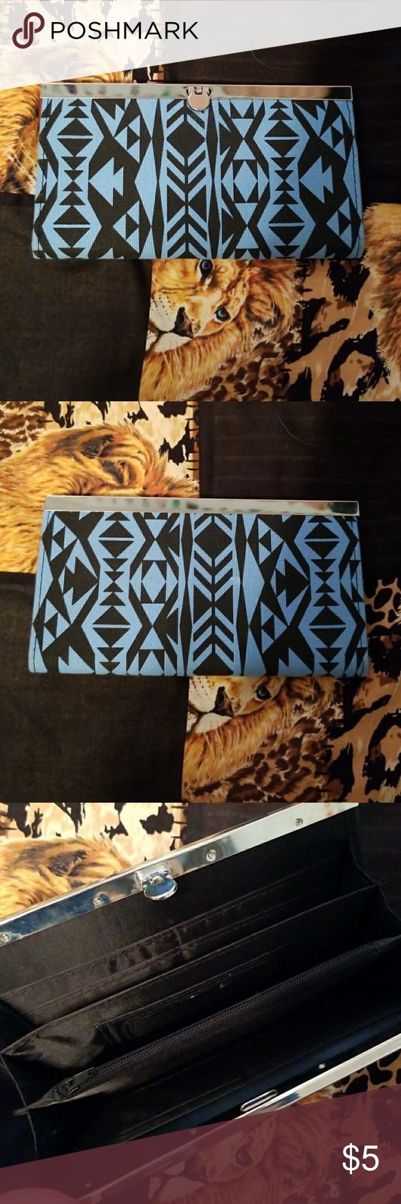 NWOT Tribal Wallet Blue and black tribal print wallet. Perfect condition never used! Bundle&Save jcpenney Bags Wallets
