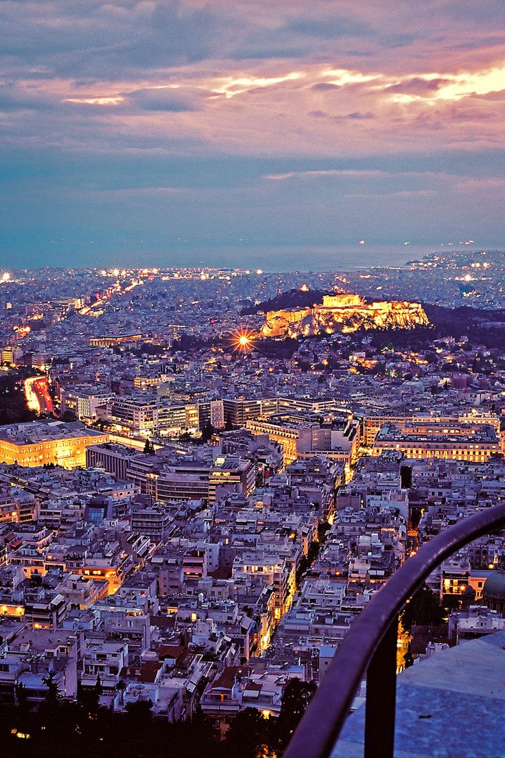Dusk in Athens, Greece. For luxury hotels in Athens visit http://www.mediteranique.com/hotels-greece/athens/