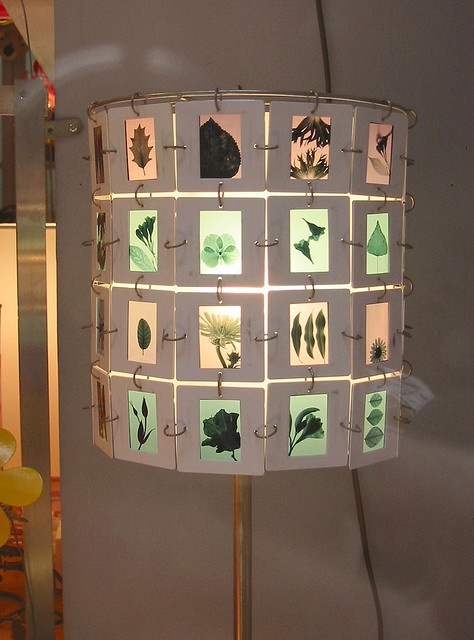 Another DIY 35 mm slide lamp shade.  This site has tutorials linked so you can do it yourself with your own slides.