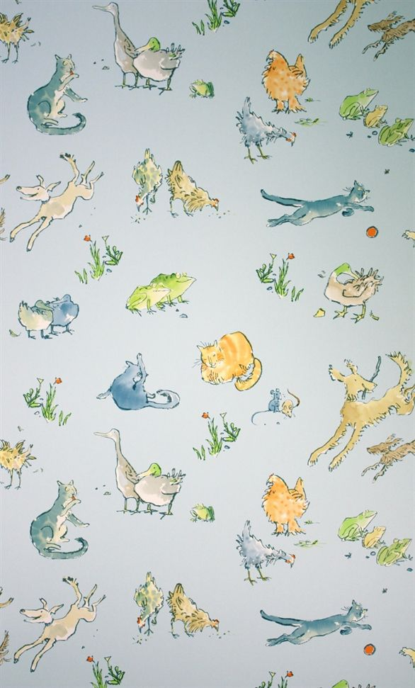"""Quentin's Menagerie"" by Zagazoo Wallpapers - Quentin Blake in the downstairs loo? #Rewind"
