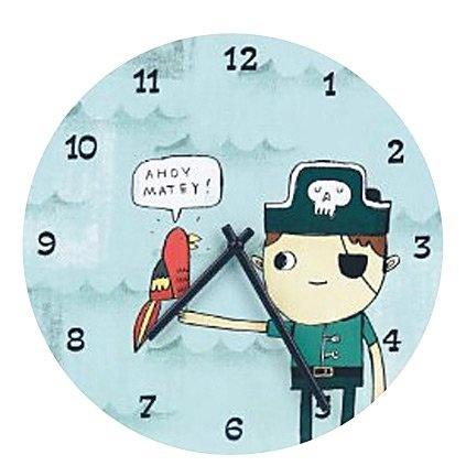 Mudpuppy Pirate Wall Clock