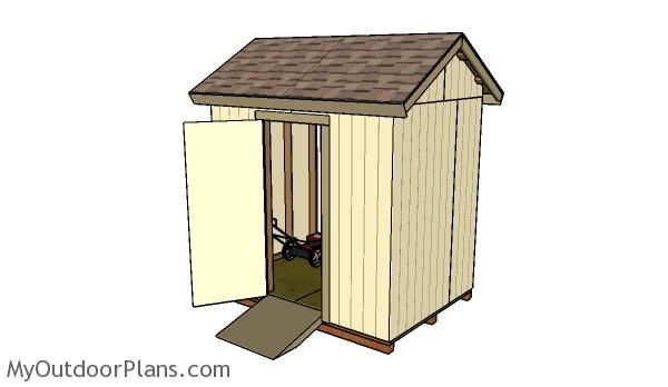 How to build a 6x8 shed with a gable roof